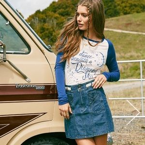 Spell and the Gypsy Boulevard Denim Skirt